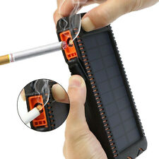 100000mah Cigarette Solar Panel Power Bank 2 LED 2 USB Battery Charger for Phone