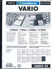 5 RECHARGES LEUCHTTURM VARIO 4S Noir
