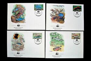 MARSHALL ISLANDS MARINE LIFE WWF COVERS 1986