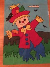 Fall Autumn Harvest Halloween Yard Garden Decor Applique Flag Scarecrow