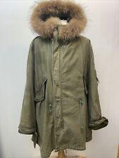 More details for rare original 1948 m48 parka fishtail usa fox fur collar & liner mod large