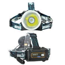 BORUiT Digital Fishing Hunting Tactical Headlamp XM-L2 LED ZOOM Headlight 8000LM