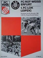 Programm 1986//87 Rot Weiß Erfurt Lok Leipzig