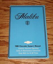1980 Chevrolet Malibu Owners Operators Manual 80 Chevy