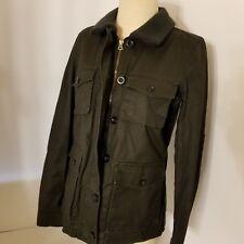 J. Crew Utility Military Black Womens Cotton Zipper Jacket Size S