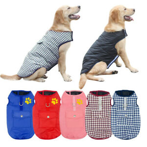 Waterproof Dog Winter Clothes Warm Padded Jacket Coat for Small Large Dog XS-3XL