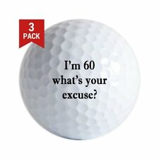 3-Ball Gift Pack (I'm 60 Whats Your Excuse Logo) Golf Ball - Golf Balls (3-Pack)