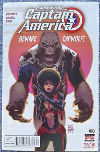 Sam Wilson Captain America #3 VF/NM FIRST APPEARANCE JOAQUIN TORRES FALCON MCU