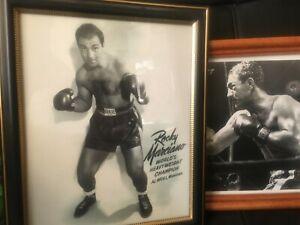 Rocky Marciano vs Joe Walcott AND Marciano Champion B&W Framed Prints