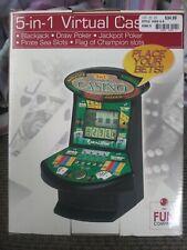 5-in-1 Deluxe Virtual Casino Mini Tabletop Electronic Poker / Slot Machine NIB