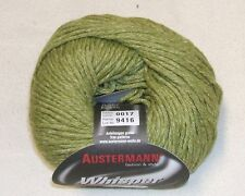 Whisper Austermann 4 x 50 g weiche Woll-Baumwoll-Mischung Fb. 17 Baumwolle Wolle