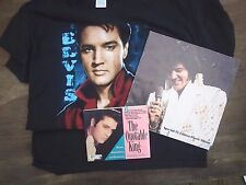 2 Elvis Presley Books Special TV Edition Photo Album The Quotable King & T Shirt