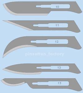 12 Skalpellklingen Top Qualität (Auswahl  10,11,12,13,15 oder nach Wunsch)