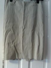 CREAM SIZE 12 PENCIL SKIRT BY OASIS