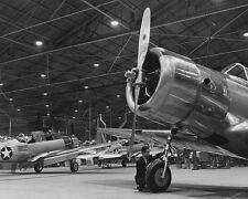 "U.S. Fighter Planes in Production Plant 8""x 10"" World War II WW2 Photo 534"