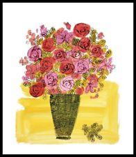 Andy Warhol Basket of Flowers Poster Art pression dans le cadre alu noir 36x28cm
