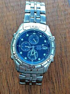 Men's CITIZEN ECO DRIVE CHRONOGRAPH ALARM WR 100 Wrist Watch.