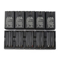 10pcs 18650 Dual Slot Wall Charger US Plug for 3.7V Rechargeable Li-ion Battery