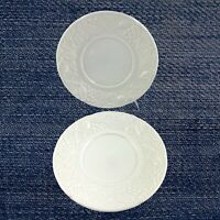 """Mikasa Set of 2  Saucers DP900 English Countryside White 6 1/2"""" Wide"""