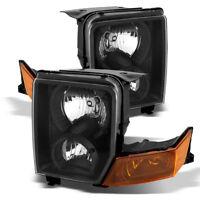 Fit Jeep 06-10 Commander Black Housing Replacement Headlights Lamp Pair Set