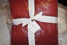 Pottery Barn deep red acrylic mohair sherpa reversible throw blanket 50x60 NIP