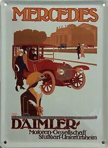 Blechschild Mercedes Daimler
