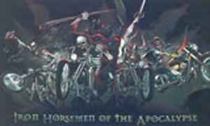 IRON HORSEMEN OF THE APOCALYPSE MOTORCYCLE FLAG 5' x 3' Horseman Biker Motorbike