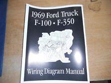 1969 FORD F100 F250 F350 F-100 WIRING DIAGRAMS MANUAL
