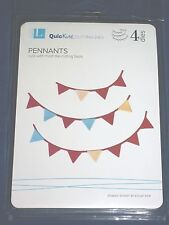 LIFESTYLE CRAFTS quickutz PENNANTS cutting dies set 4 pieces DC0307 NIP
