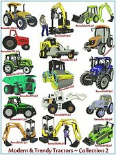 "AUSTRALIAN SITE: "" Modern & Trendy Tractors 2 "" ~ 16 Special Designs on CD"
