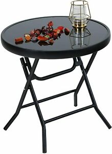 Folding Side Table Foldable Coffee Outdoor Garden Small Dining Party Bistro Yard