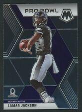 2020 Panini Mosaic Lamar Jackson Pro Bowl Football Card #251 Baltimore Ravens