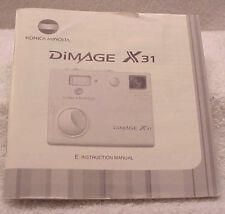 User Manual = Konica Minolta DiMage X31 Digital Camera (english)