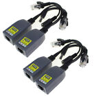 2 Pair 48V Power Over Ethernet DC Cable POE Passive Injector Splitter Adapter