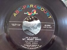 PAUL ANKA  45 THATS LOVE / MY HEART SINGS ON ABC PARAMOUNT RECORDS
