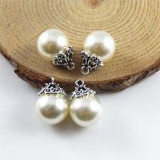 18 pcs Faux Pearl Drop Dangle Earing Pendant Charm 17x12mm DIY Jewellery Making