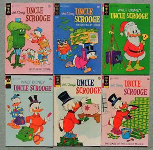 UNCLE SCROOGE #94, 95, 96, 97, 98, 99, SIX BOOKS, DISNEY COMICS BRONZE AGE LOT