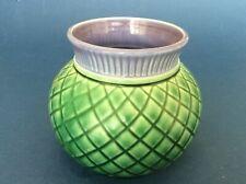 Vintage Scotia Ceramics Thistle Vase in green and purple - Isle of Lewis