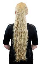 très longue, volumineux queue de cheval, coquin Boucles, blond foncé n838-24