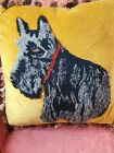 1930s scotty dog  cushion / pillow superb condition plush work
