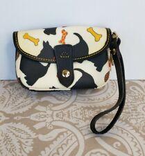 DOONEY & BOURKE White Scottie Dog Wristlet Purse Clutch Bag Scottish Terrier