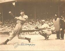 Joe DiMaggio Signed Yankees Baseball Sepia 11x14 Photo BAS Beckett COA Autograph