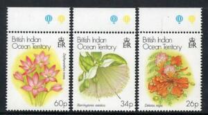 B.I.O.T MNH 2000 SG243-5 Christmas Flowers