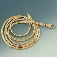 "Men's/Women's Necklace Snake Chain 18k Yellow Gold Filled 24"" Link Charms"