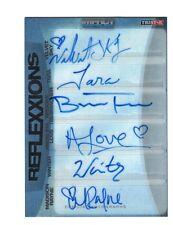 TNA Knockouts Sky Tara Love Rayne 2012 Reflexxions SIX Autograph Card SN 4 of 5