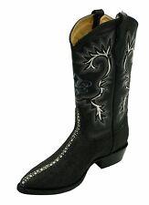 Men Genuine Leather String Ray Print Cow Boy J Toe Boots Style Stingray- J Toe