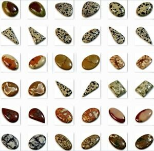 Natural Various Type Jasper Cabochon Collection