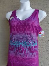 NWT Hanes 2X  Cotton Jersey V Neck Wide Strap Graphic Tank Top Grape Juce