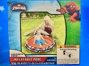 """Marvel Ultimate Spider-Man Inflatable Baby Pool~37.5"""" Diameter x 5.5"""" High"""