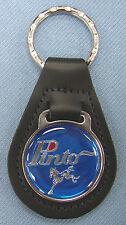 Vintage Blue Ford PINTO Black Leather Keyring Key Fob 1971 -1980